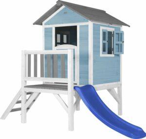 AXI Beach Lodge XL Speelhuis Caribisch blauw - Blauwe Glijbaan