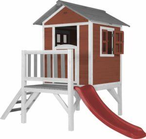 AXI Beach Lodge XL Speelhuis Scandinavisch rood - Rode Glijbaan