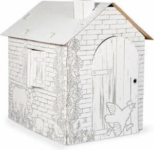 Small Foot Huis Karton - Inkleuren