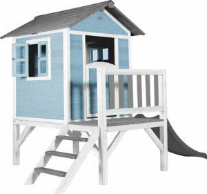 Speelhuis - Lodge XL Speelhuis Caribisch blauw - XL tuinhuis - Tuinhuis - Speelstation - Speelrek - Glijbaan - Buiten speelgoed - Hout